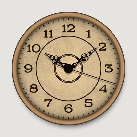 古いアンティーク壁時計  イラスト・ベクター素材