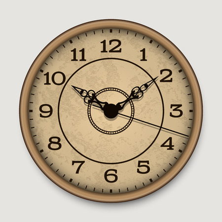 antique clock: Old antique wall clock