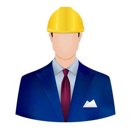 hard cap: male architect Illustration