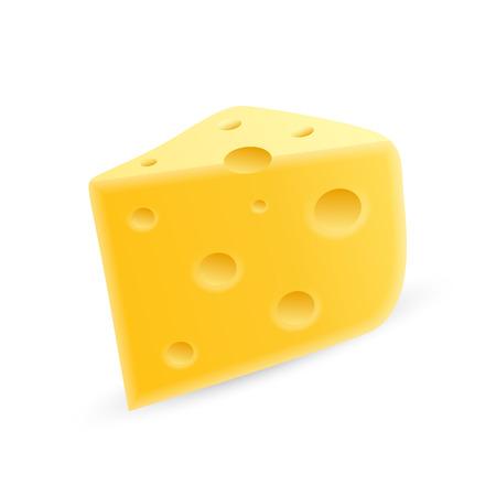 chunk: cheese on a white