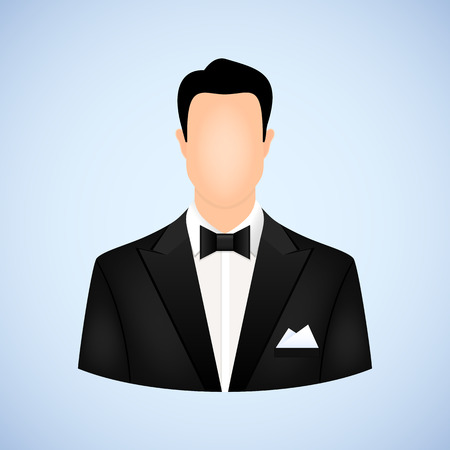 man in tuxedo avatar Vector
