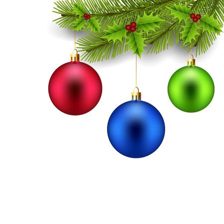 adornos navideños: La decoración de Navidad Vectores