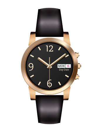 orologio da polso: Affari analogico orologio da polso degli uomini classici Vettoriali
