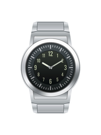 wrist watch: Silver wrist watch isolated on white background