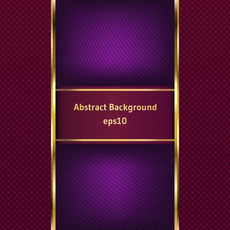 maroon: Maroon stripe with a gold border on the abstract background