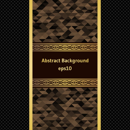 brown stripe: Brown stripe with a gold border on the abstract background