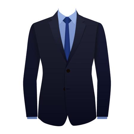 traje formal: Traje azul con un empate