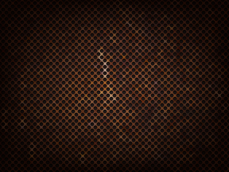 metal grid: rusty metal grid Illustration