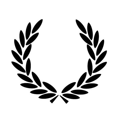 Icono de vector de corona de laurel