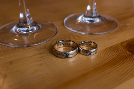 Two silver engagement ring. Unusual wedding rings. Wedding details