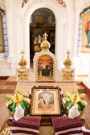 Interior into the Orthodox church