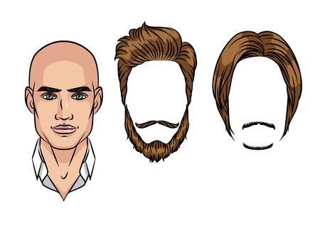 Hairstyles for man icon.