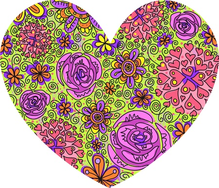 delicate floral heart