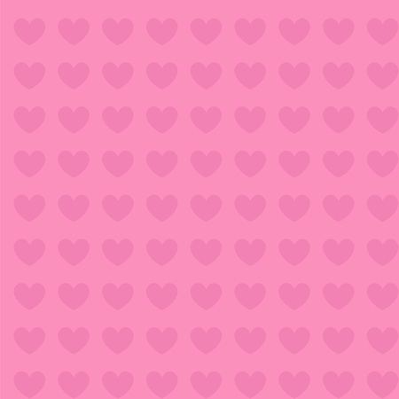 hearts background pink seamless