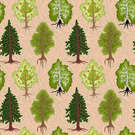 a lot of trees on a beige background