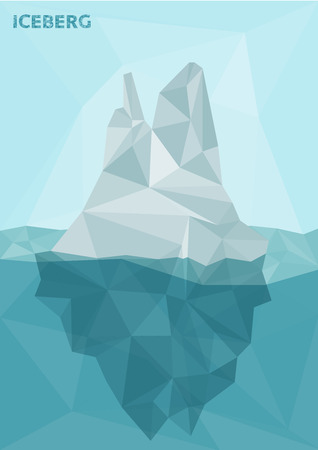 Stylized polygonal image of frozen iceberg Vector