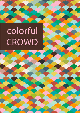 hillock: group of hills and hillocks, colorful crowd, vector