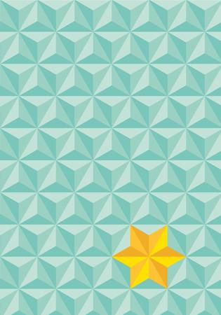 tetraedro: senza soluzione di continuit� astratta triangolare verde con la stella gialla