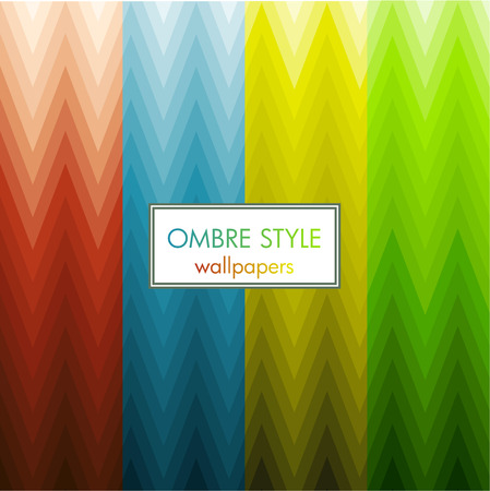 ombre: zig zag ombre style wallpaper set Illustration