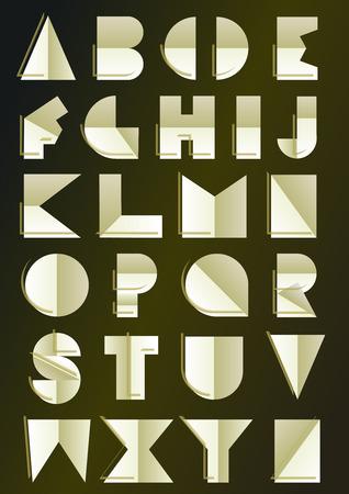 alphabet art déco inspirée Banque d'images - 30550142