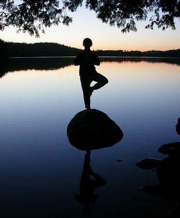 paz interior: Lago  Foto de archivo