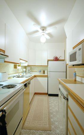 fridge lamp: small white kitchen