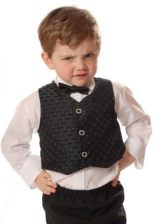 dressed up en boos Stockfoto