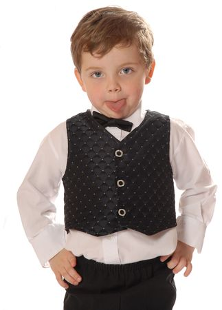 dressed up child