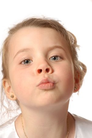 girl blowing a kiss Banco de Imagens