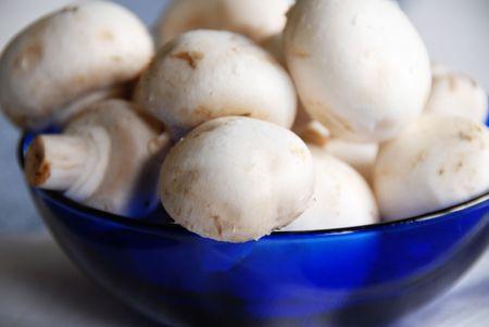 mushrooms in a bowl Banco de Imagens