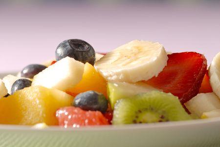 macro of fruits photo
