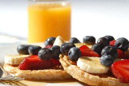 nourish: waffles with fruit