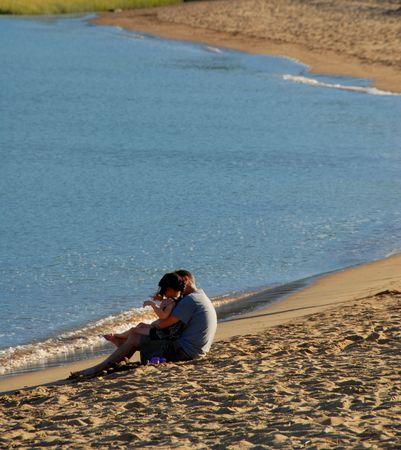 family on the beach Фото со стока