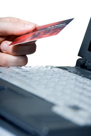 using a credit card on the net photo