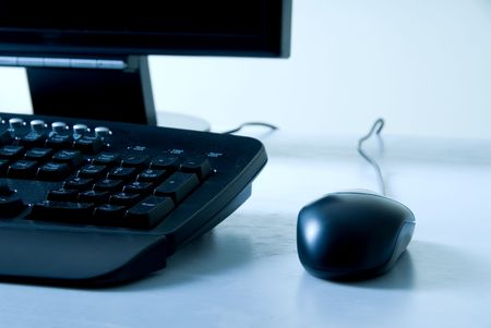 blck computer with keyboard and mouse Stock Photo - 545411