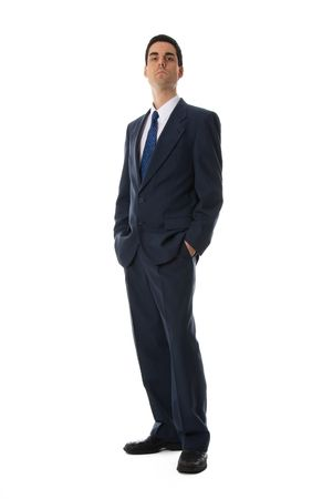 businessman with his hands in his pockets on white Stock Photo - 652979