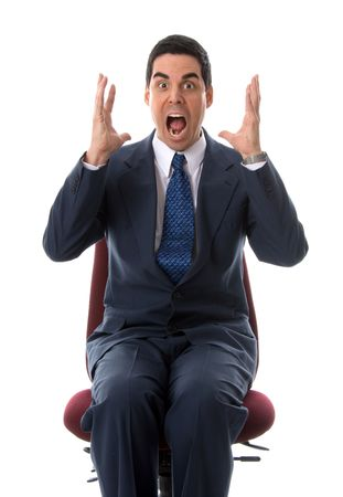 man in a big panic on a background Stock Photo - 729524