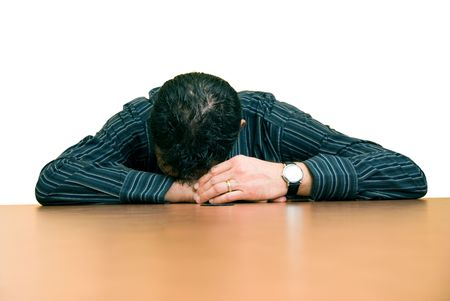 business man sleeping at his desk in the office Stock Photo - 910749