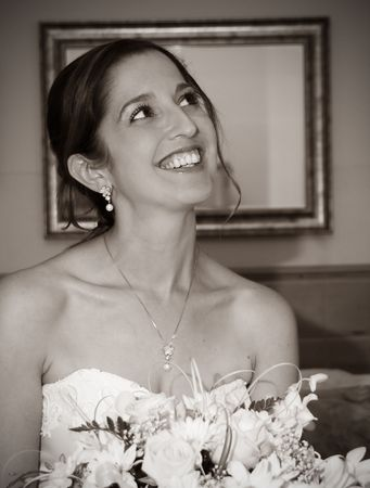 a lovely bride on her wedding day Stock Photo - 1748446