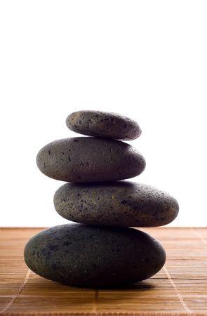 lastone: stack of hot stones for lastone massage