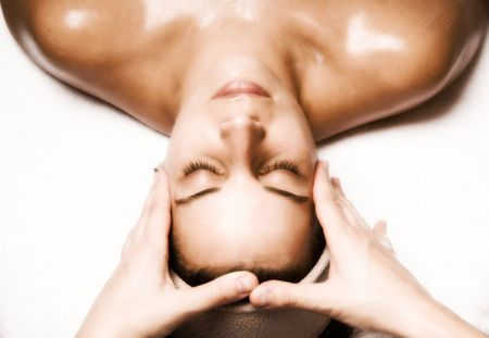 woman relaxing with a nice facial massage Stock Photo - 2072990