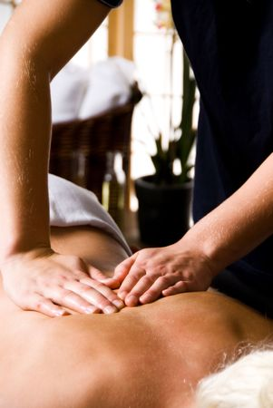 woman getting a good massage at a day spa Stock Photo - 2282507