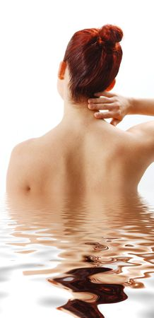 woman from the back showing neck pain Stock Photo - 2632770