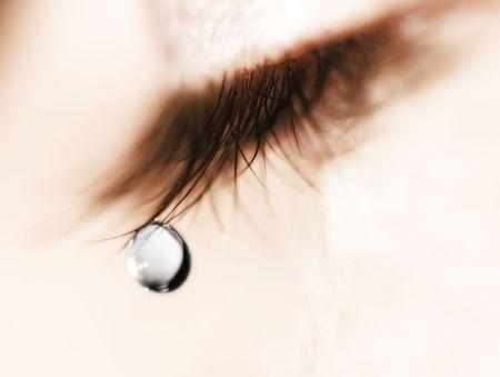 larmes: larme en macro mode sur une m�che doeil Banque d'images