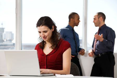 business team with a woman in the foreground Stock Photo - 2828823