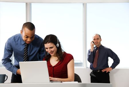business team with a woman in the foreground Stock Photo - 2828822
