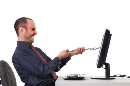 tug o war: tira y afloja en la oficina en blanco