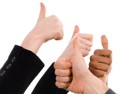 business people with their thumbs up in support Stock Photo - 3033786