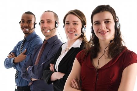 customer service representatives on a white background