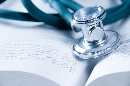 clinical: health care concept with a medical book